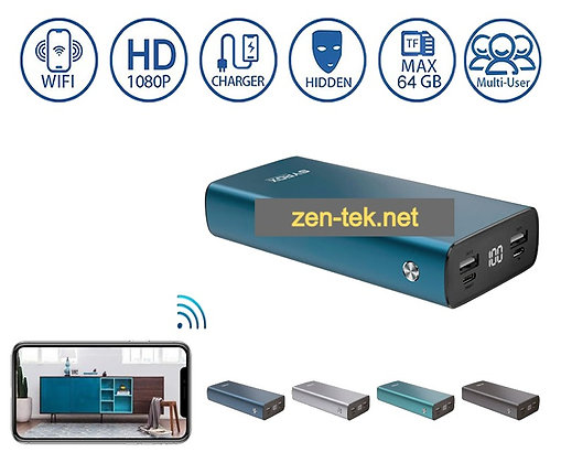 Powerbank Kamera; Canlı izleme & kayıt 64 GB destek Wi-Fi kamera ZNT-357