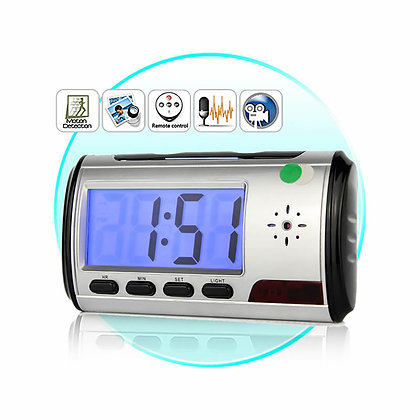 12 Saate Kadar Kayıt, Hareket Sensörlü, Dijital Masa Saati Kamera ZNT-046 B