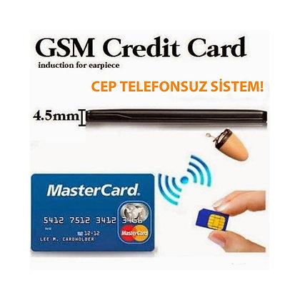 TeleSim Kartlı Kredi Kart Tasarımlı Kulaklık Seti  ZNT-317