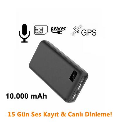 Canlı dinleme , Ses Kayıt,  Ses Sensörlü, Konum Atmalı Powerbank  ZNT-015-R