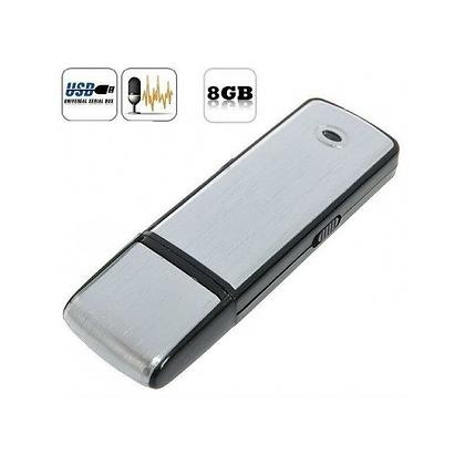 Ses Sensörlü 8 GB.  Ses Kaydedici USB Flash Bellek  ZNT-112-V
