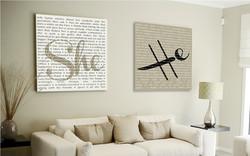 Printed Canvas Painting