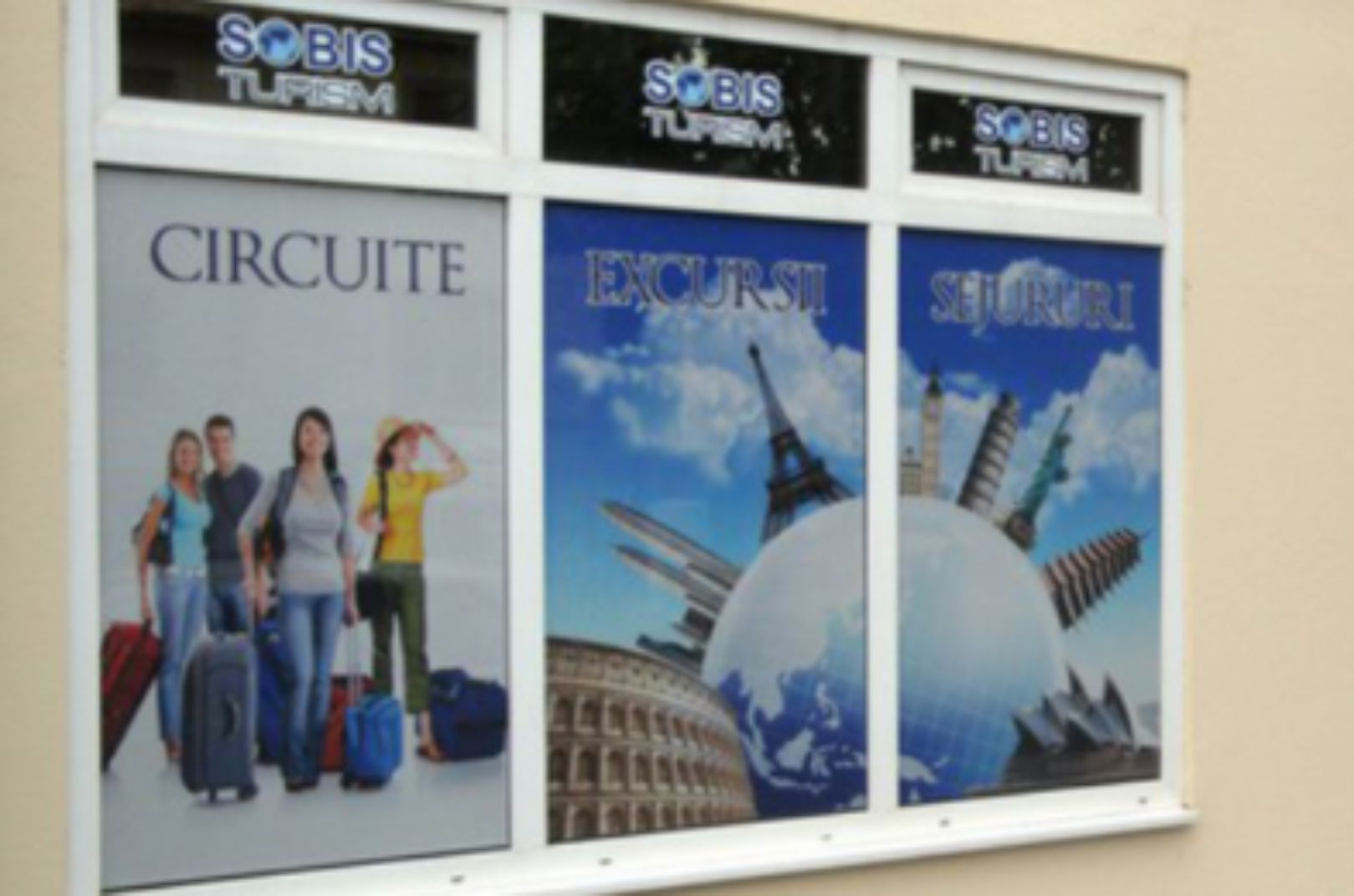 travel agency windows graphics