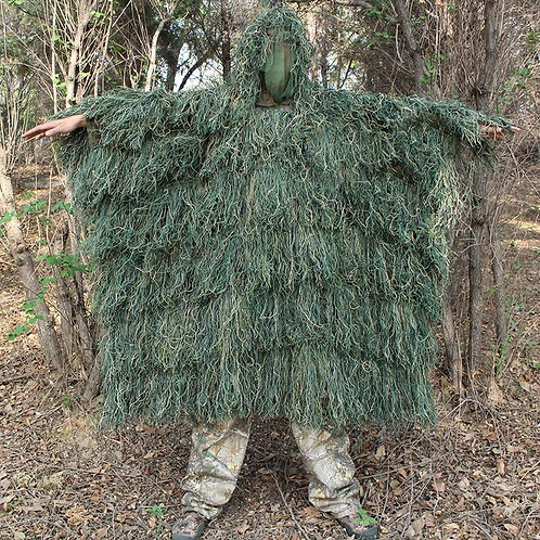 Men Outdoor Hunting Ghillie Suit Ghillie Clothes Top Men Camouflage