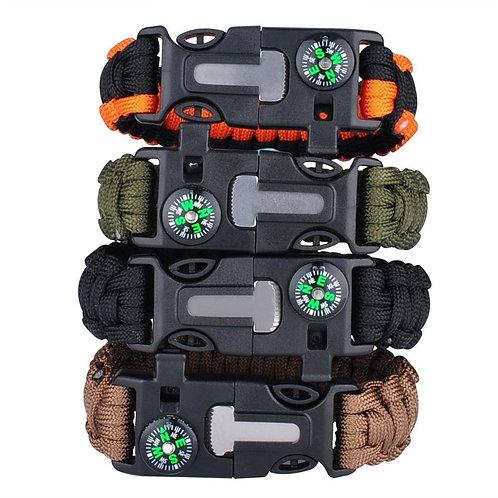 Multi-Function Military Emergency Survival Paracord 4mm Bracelet