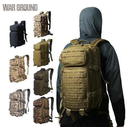 WAR GROUND Outdoor Molle Military Tactical 1000D Nylon Backpack 30L