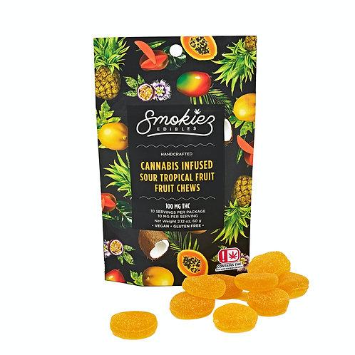 Smokiez Fruit Chews Sour Tropical Fruit 100mgTHC