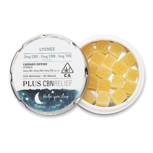 PLUS Gummies CBNRelief 3:2:1 Lychee 60mgCBD/40mgCBN/20mgTHC