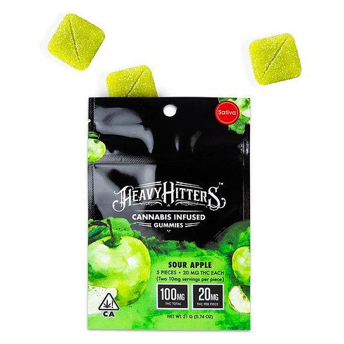 Heavy Hitters Gummy Pack Sour Apple (S) 100mg THC