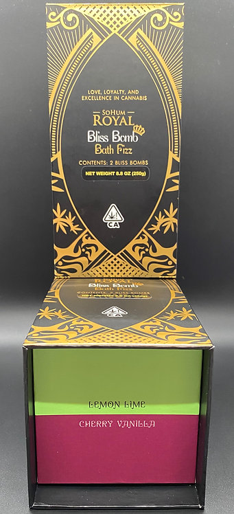 SoHum Royal Bliss Bomb Bath Fizz (2-pack) Lemon Lime/Cherry Vanilla 30.48mgTHC