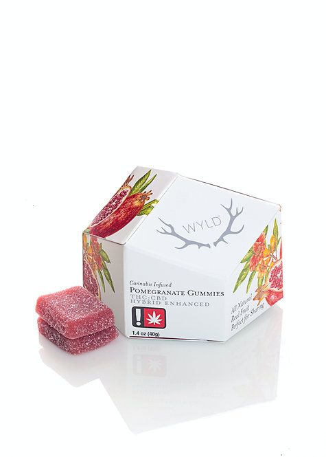 Wyld Gummy Pack CBD 1:1 Pomegranate 100mgCBD/100mgTHC