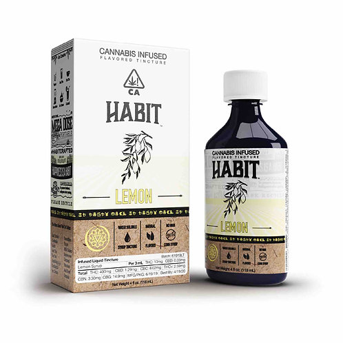 Habit Syrup Tincture Lemon 400mg