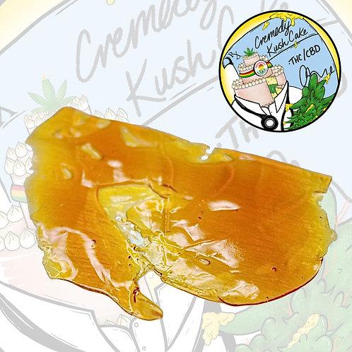 Creme De Canna Shatter CBD 1:1 Cremedy Kush Cake 1g (35.87% THC/29.82% CBD)