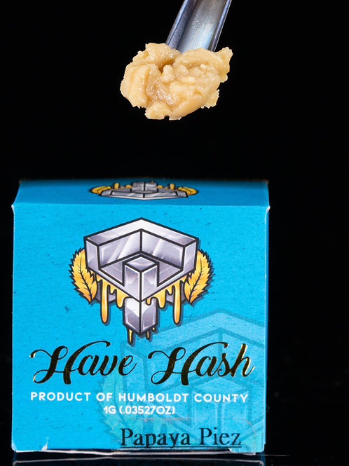 Talking Trees (Have Hash) Live Rosin Papaya Piez 1g (67.95% THC)