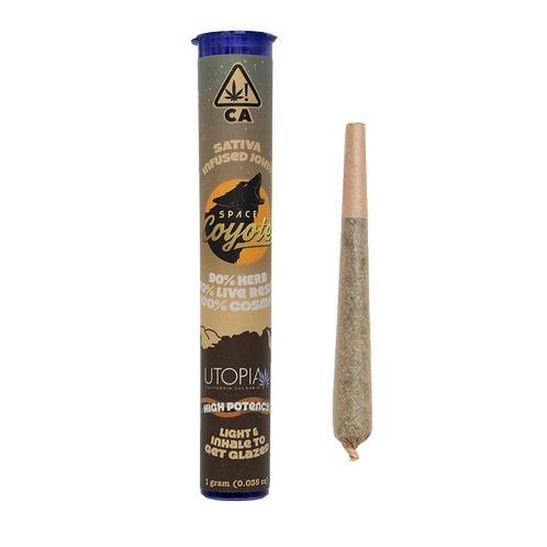 Space Coyote Infused PreRoll Utopia Live Resin Sativa 1g (28.18% THC)