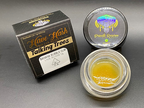 Talking Trees (Have Hash) Live Rosin Banana Bubble Gum 1g (76.57% THC)