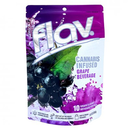 Flav Beverage Pouches THC Grape 100mgTHC