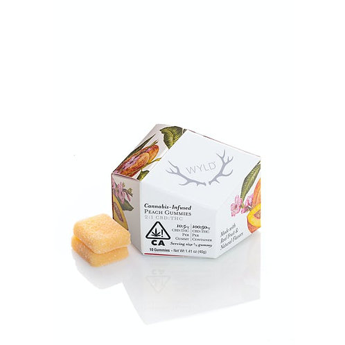 Wyld Gummy Pack CBD 2:1 Peach 100mgCBD/50mgTHC