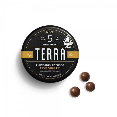 Kiva Terra Milk Chocolate Sea Salt Caramel 100mgTHC