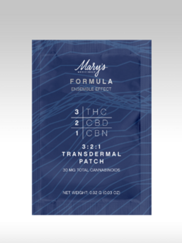 Mary's Medicinals The Formula Transdermal Patch THC/CBD/CBN 3:2:1
