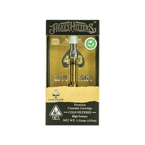Heavy Hitters Live Resin Cartridge Alien Rock 1g (75.74% THC)