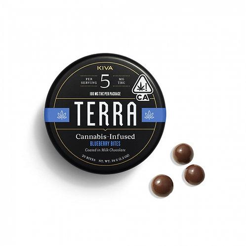 Kiva Terra Milk Chocolate Blueberries 100mgTHC