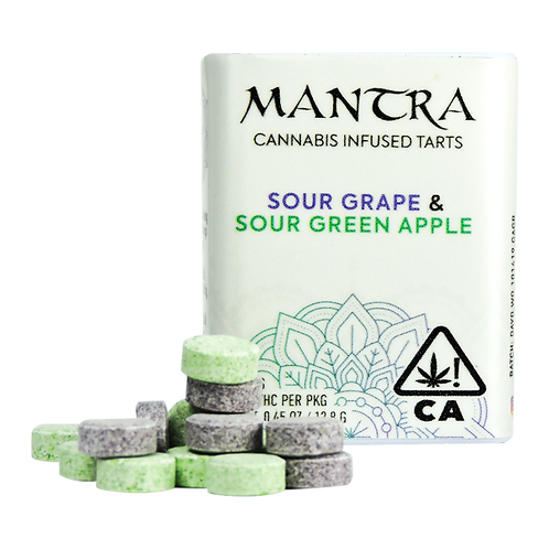 Daydreamers Mantra Tarts Sour Grape and Sour Apple 100mgTHC