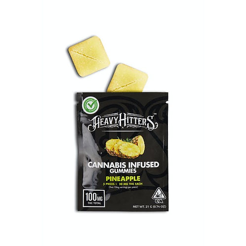 Heavy Hitters Gummy Pack Pineapple 100mg THC