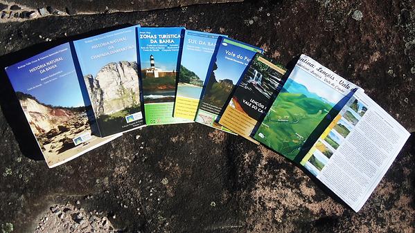 Coleção Caminhos do Brasil Chapada Diamantina Mapas livros História Natural da Bahia Lençóis Boipeba e Vale do Capão