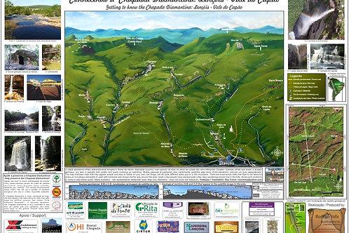 Mapa Turístico de Lençóis - Cachoeiras