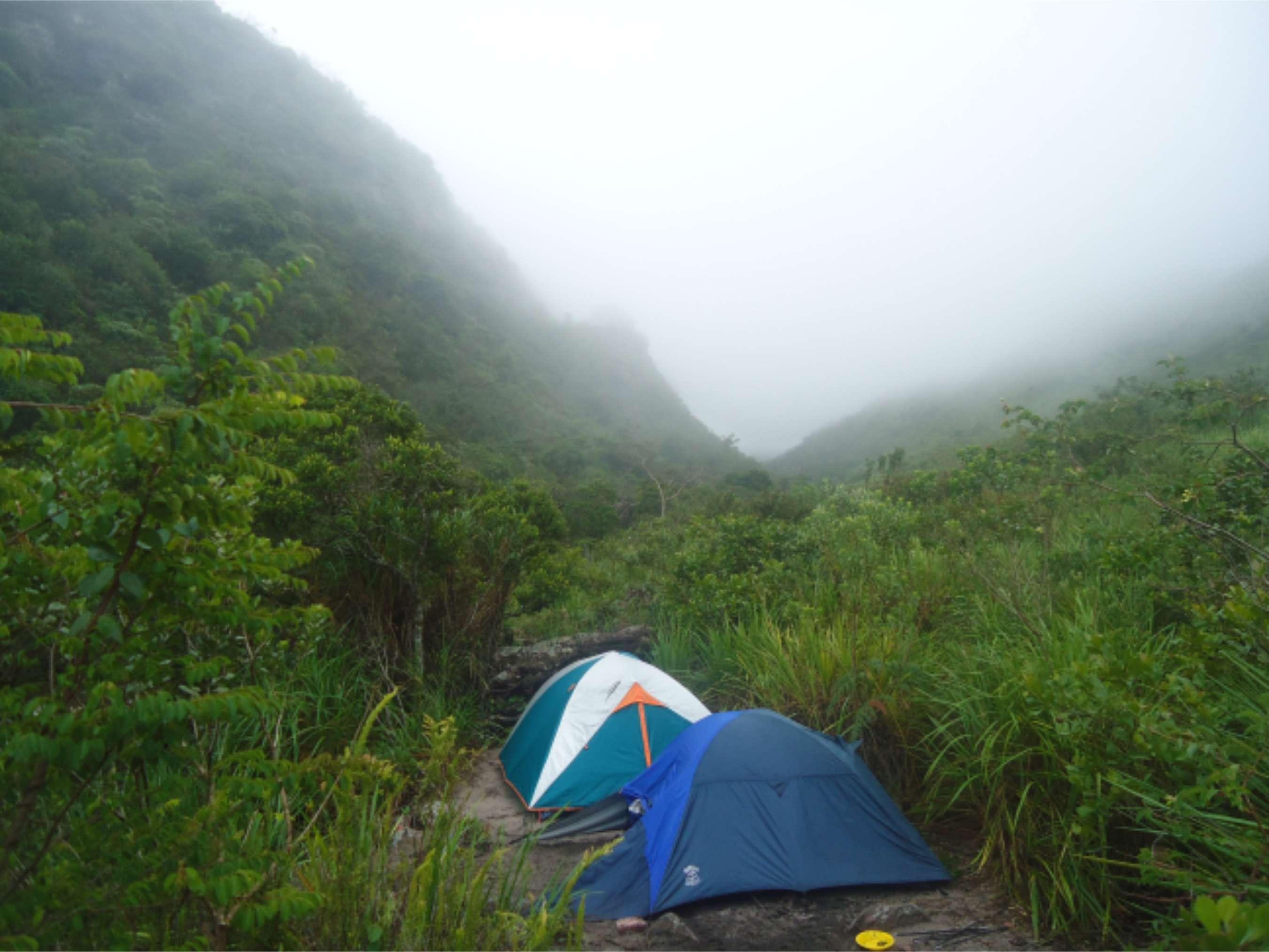Acampando no meio da Serra