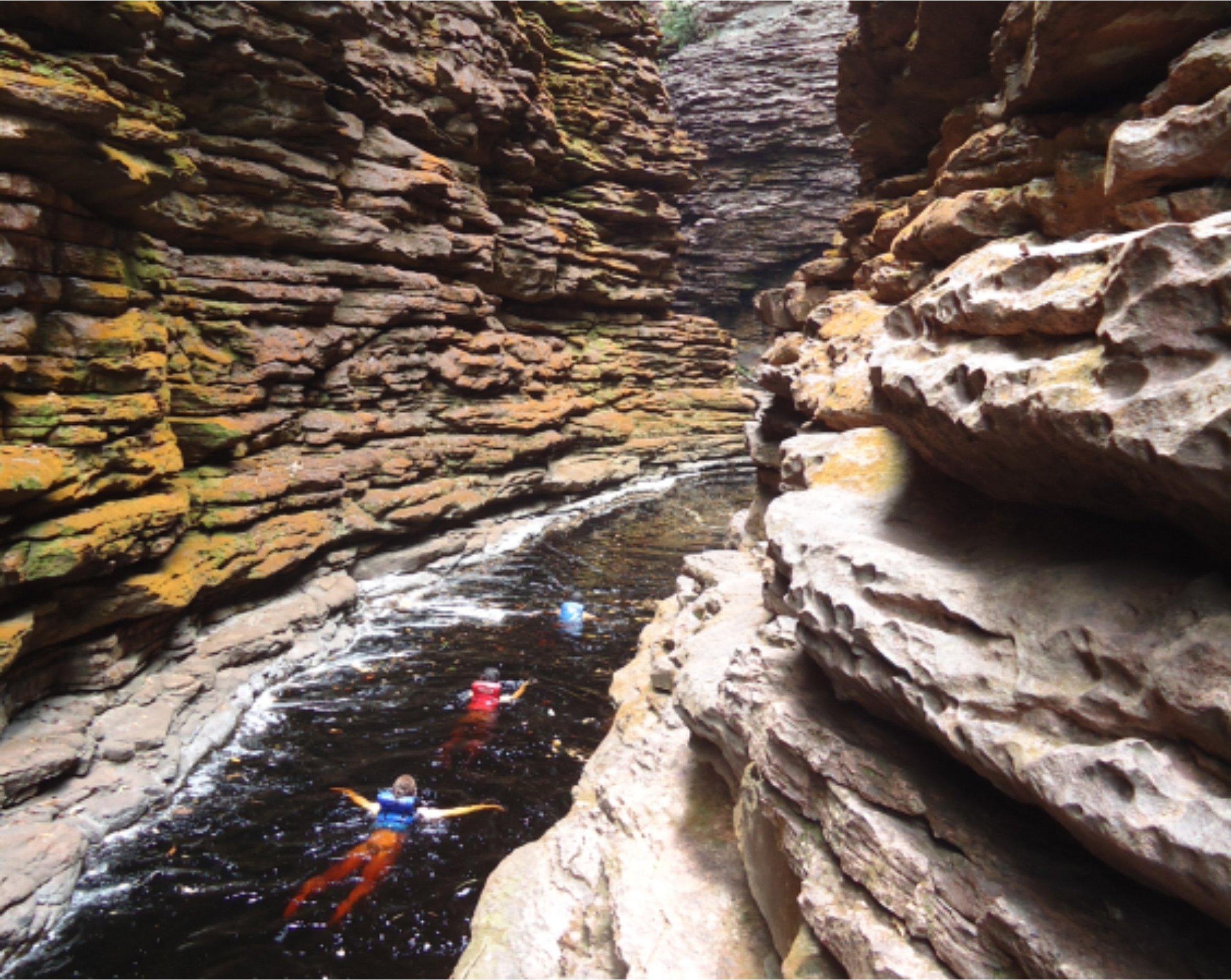 Canyon para a Cachoeira do Buracão
