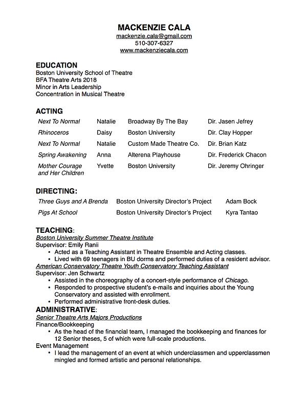 mysite 1 working resume