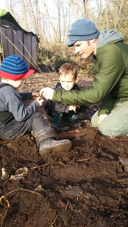 Digging for bones!