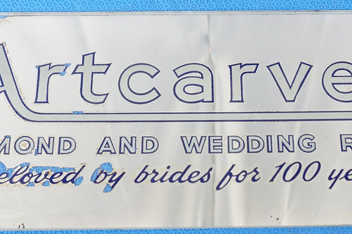 Artcarved Diamond And Wedding Rings - Glass Advertising Sign