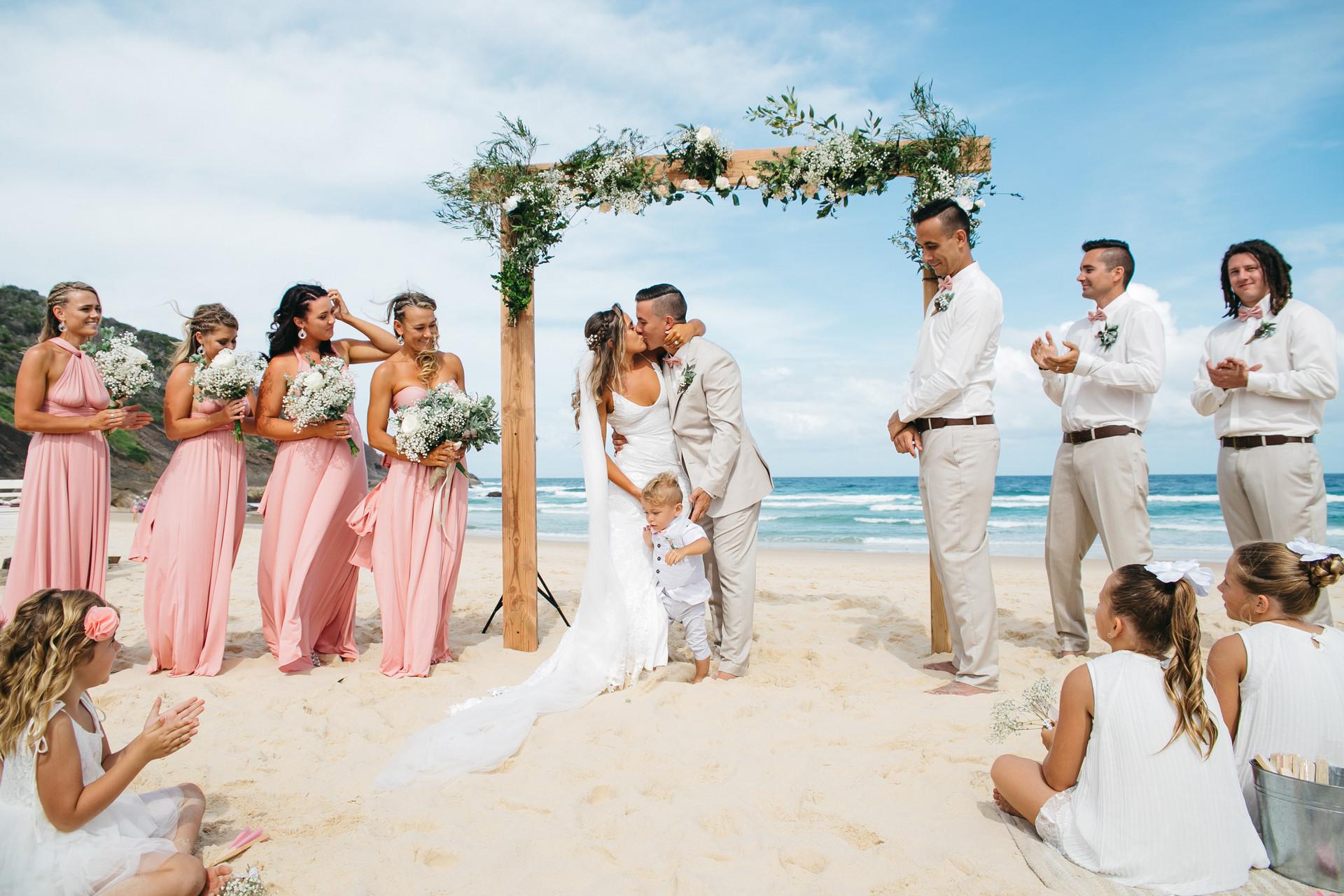 Ceremonies on the beach