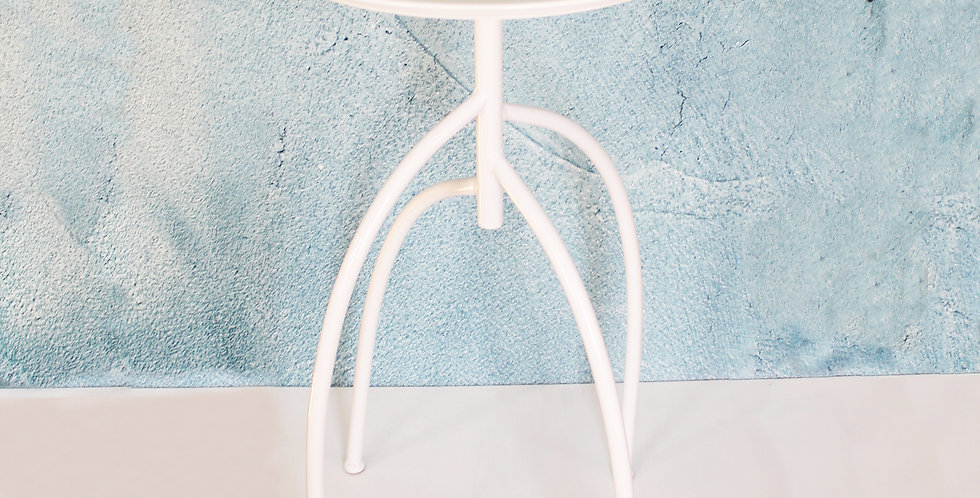 Metal Accent Table - White