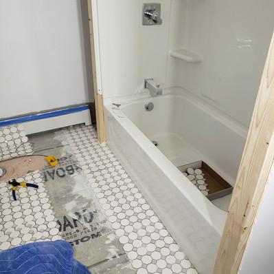 Bath Floor & Shower_In progress