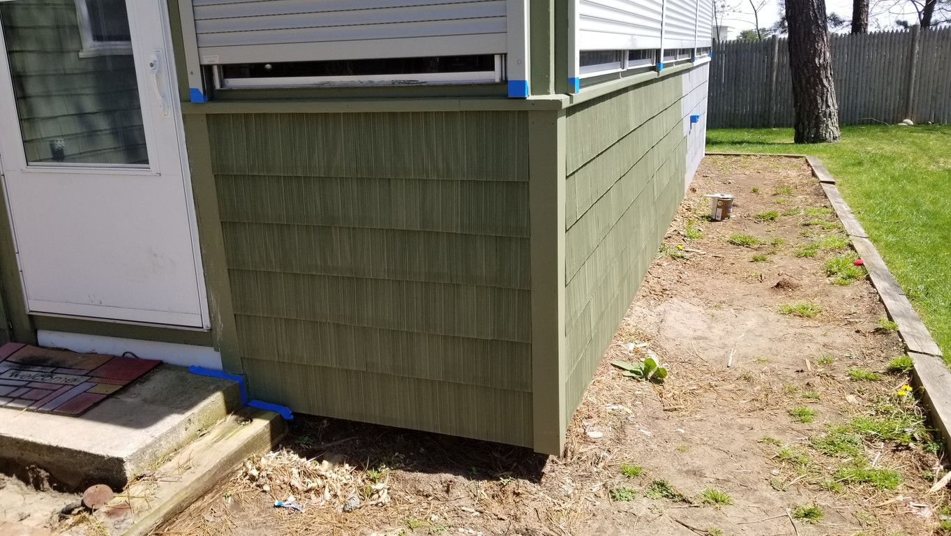Siding Install - after paint
