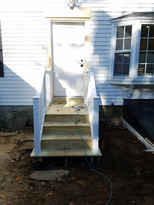 New Entry door & stairs