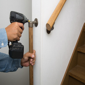 Grab bars for walking up stairs