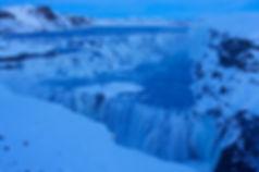 Gulfoss Waterfall Iceland in winter