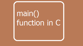 main() function in C