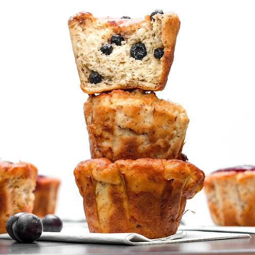 Muffin sin gluten arándanos x und.