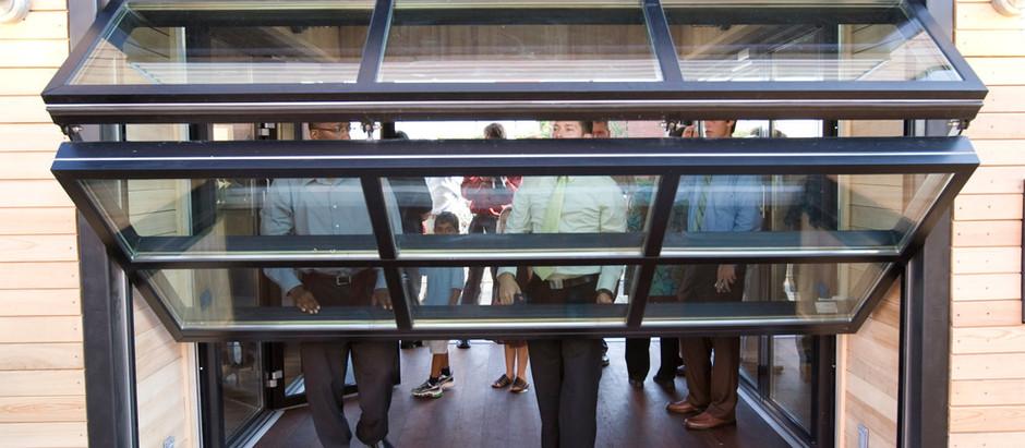 """Designing An Opening:  """"Hangar Doors"""" For Flexible Spaces"""
