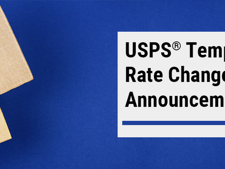 USPS Announces Temporary Rate Change for October 2020