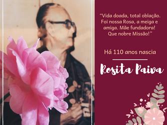 Há 110 anos nascia Rosita Paiva