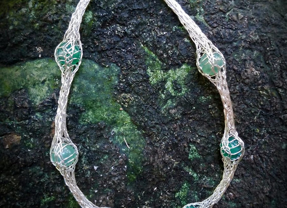 Bracelet woven with sterling silver