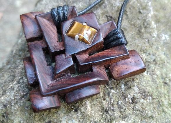 Symmetric Cocobolo Necklace