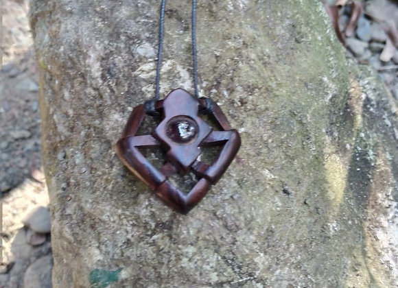 Rosewood Necklace with Garnet
